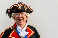 O Crier de cidade da cidade de Chester, Reino Unido, David Mitchell foto de stock