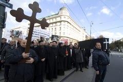 O cristão de Egipto demonstra em Viena Foto de Stock