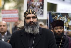 O cristão de Egipto demonstra em Viena Imagens de Stock Royalty Free