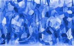 O cristal quebrado fotografia de stock
