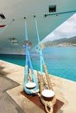 O cruzeiro enviou amarrado no porto Fotografia de Stock Royalty Free
