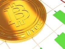 O cryptocurrency principal do ouro Foto de Stock