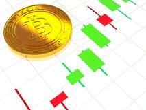 O cryptocurrency principal do ouro Imagens de Stock