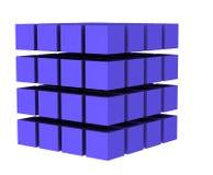O cubo 3 ilustração stock