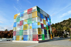 O cubo de Malaga Foto de Stock