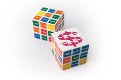 O cubo de Rubick da riqueza Foto de Stock