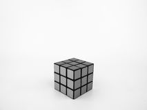 O cubo de Rubik em preto e branco Foto de Stock Royalty Free