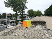 O cubo landscape1 de Rubik Imagens de Stock Royalty Free