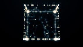 O cubo na luz não ofuscante 4K ilustração do vetor