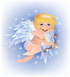 O Cupid dispara na seta do ouro Fotos de Stock