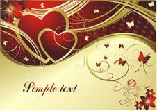 O cupid e os corações Fotografia de Stock Royalty Free