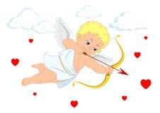 O cupido e o coração para o dia ou os casamentos do ` s do Valentim Imagem de Stock Royalty Free
