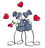 O cuple alegre engraçado começ casado Imagem de Stock