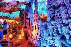 O curso da caverna de Soreq Avshalom em Israel Fotografia de Stock Royalty Free