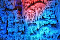 O curso da caverna de Soreq Avshalom em Israel Foto de Stock Royalty Free