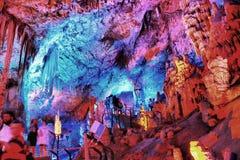 O curso da caverna de Soreq Avshalom em Israel-w31 Imagem de Stock