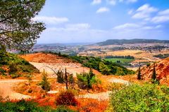 O curso da caverna de Soreq Avshalom em Israel-w37 Foto de Stock Royalty Free