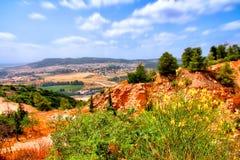 O curso da caverna de Soreq Avshalom em Israel-w38 Fotos de Stock Royalty Free