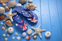 O curso de Austrália descasca o fundo Fotografia de Stock Royalty Free