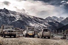 O curso e o vingador vão a Kashmir india Fotografia de Stock