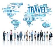 O curso explora o conceito global da aventura da viagem do destino Fotografia de Stock