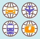 O curso isolou os ícones ajustados Imagem de Stock