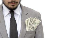 O custo da corrupção é alvo ávido do homem de negócios do desafio sério para superar a dificuldade de encaixar anti-cfor empresas fotos de stock royalty free
