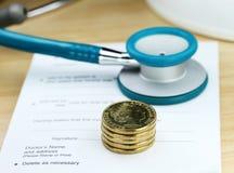 O custo dos cuidados médicos Fotografia de Stock