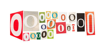 O cut out letter Stock Image