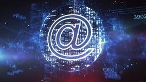 O Cyber azul no processador central do símbolo colocou obliquamente ilustração do vetor