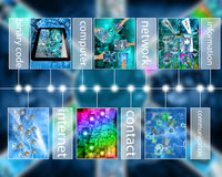 O Cyberspace 3d rende Fotos de Stock