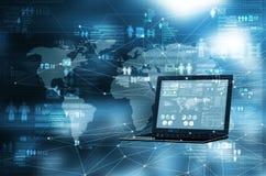 O Cyberspace 3d rende fotografia de stock