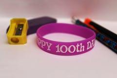 100o día de tema de la escuela foto de archivo