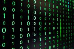 O dígito do verde da matriz foto de stock