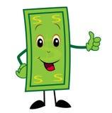O dólar alegre mostra um sinal perfeitamente ilustração do vetor