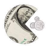 O dólar americano come o rublo de russo Fotos de Stock
