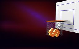 O dólar aponta basket-2 Imagens de Stock Royalty Free