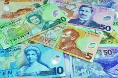 O dólar da moeda de Nova Zelândia anota o dinheiro Imagem de Stock