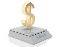 O dólar pesa Fotos de Stock Royalty Free