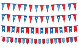 4o da bandeira da corda de julho Imagem de Stock