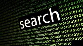 O ` da busca do ` da palavra na tela do lcd ilustração stock