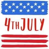 4o da ilustração de julho Fotografia de Stock Royalty Free