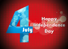 4o da ilustração de julho, celebração americana do Dia da Independência imagem de stock