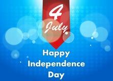 4o da ilustração de julho, celebração americana do Dia da Independência imagens de stock royalty free