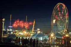 4o da mostra do fogo de artifício do Dia da Independência de julho Imagens de Stock Royalty Free