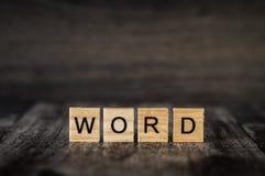 O ` da palavra do ` da palavra Foto de Stock