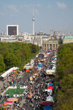 17o da rua de junho, e porta de Brandemburgo Imagem de Stock Royalty Free