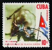 O ` da série o ø aniversário do ` de Playa Giron do ` - a tentativa da invasão do mar do cubano exila o `, cerca de 1962 Fotos de Stock Royalty Free