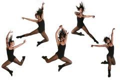O dançarino étnico com muitos levanta fotografia de stock royalty free