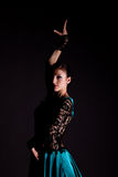 O dançarino da mulher. retrato Imagens de Stock